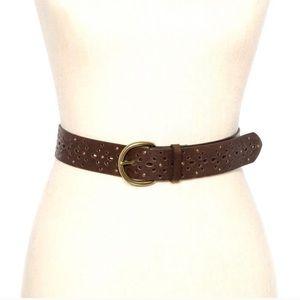 Brown Laser Cut Studded Belt - Circa